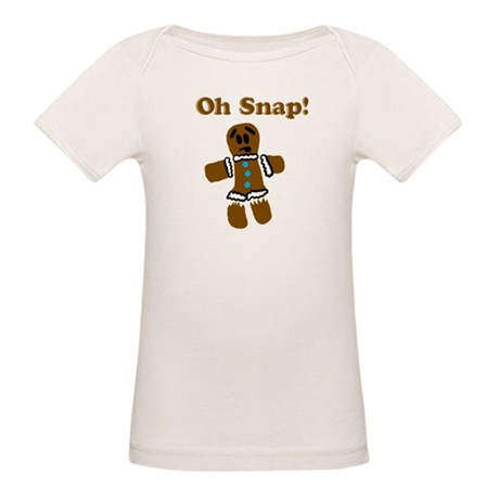 Oh Snap! Gingerbread Man Organic Baby T-Shirt