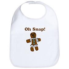 Oh Snap! Gingerbread Man Bib