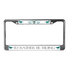 Lucky Horse License Plate Frame