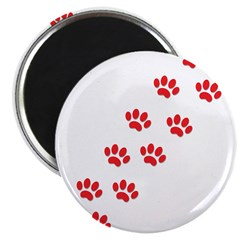 "Paw Prints 2.25"" Magnet (100 pack)"