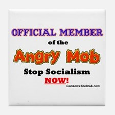 """Angry Mob Member"" Tile Coaster"