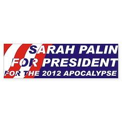 Sarah Palin 2012 Bumper Bumper Sticker