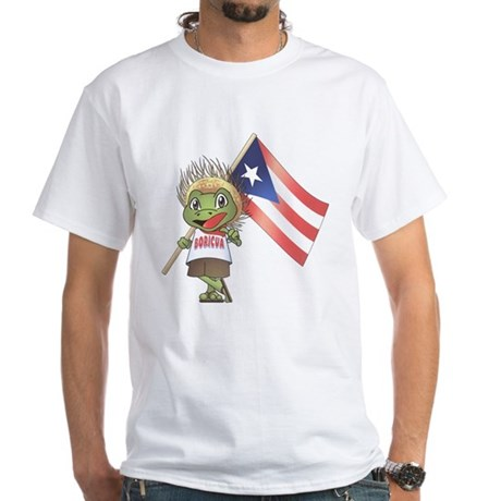 Boricua White T-Shirt