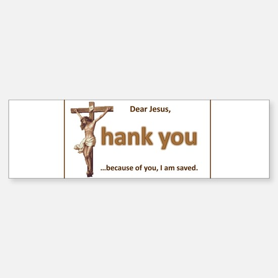 Dear Jesus Bumper Bumper Bumper Sticker