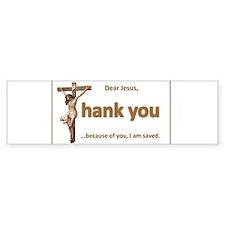 Dear Jesus Bumper Bumper Sticker