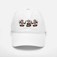 3 Monkeys! Baseball Baseball Cap