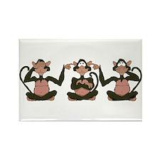 3 Monkeys! Rectangle Magnet