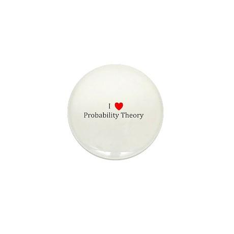 I Heart Probability Theory Mini Button
