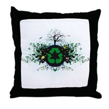 Nature Recycles Throw Pillow
