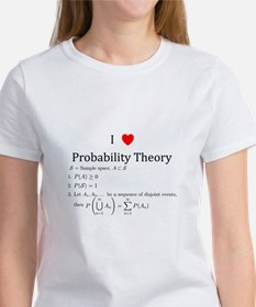 I Heart Probability Theory (with math) Women's T-S