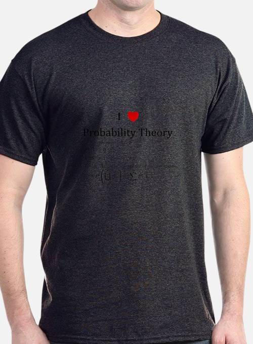 I Heart Probability Theory (with math) T-Shirt