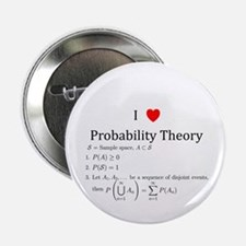 "I Heart Probability Theory (with math) 2.25"" Butto"