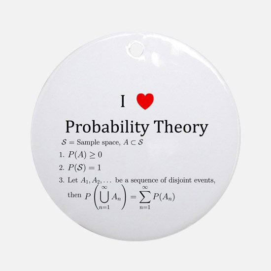 I Heart Probability Theory (with math) Ornament (R