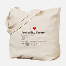 I Heart Probability Theory (with math) Tote Bag