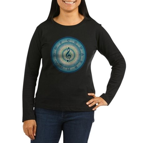 Colorful Circle of Fifths Women's Long Sleeve Dark