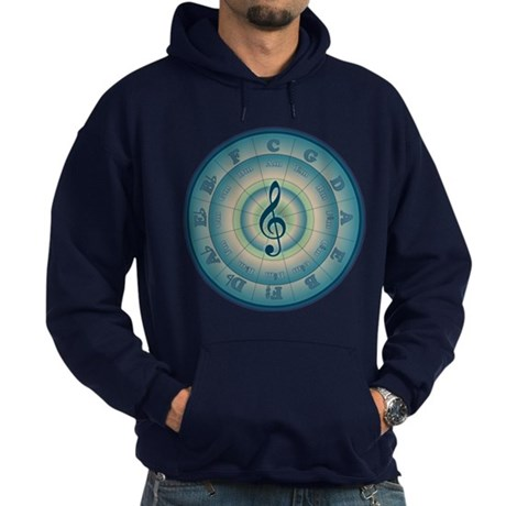 Colorful Circle of Fifths Hoodie (dark)