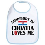Somebody In Croatia Bib