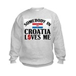 Somebody In Croatia Kids Sweatshirt