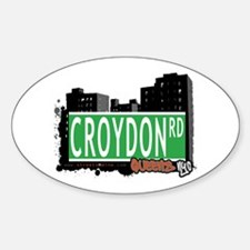 CROYDON ROAD, QUEENS, NYC Oval Decal