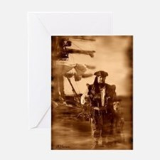 Sepia Pirate Greeting Cards