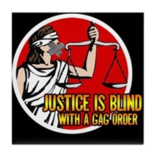 Justice is Blind Tile Coaster