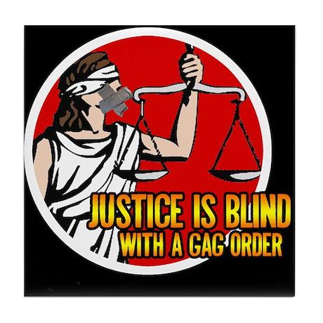 Justice is Blind Tile Coaster