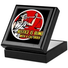 Justice is Blind Keepsake Box