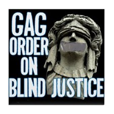 Blind Justice Tile Coaster