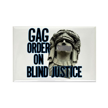 Blind Justice Rectangle Magnet (10 pack)