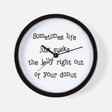 Cute Life sucks Wall Clock