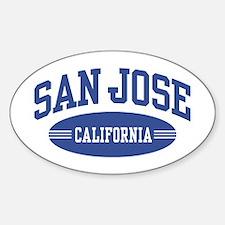San Jose Oval Decal