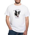 Border Collie Mom's White T-Shirt