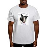 Border Collie Mom's Ash Grey T-Shirt