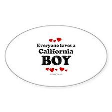 Everyone loves a California boy ~ Oval Decal