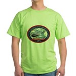 USS Ronald Reagan Green T-Shirt