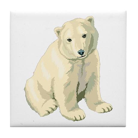 Polar Bear Cub! Tile Coaster