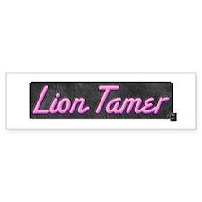 Lion Tamer Bumper Bumper Sticker