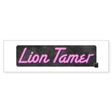 Lion Tamer Bumper Car Sticker