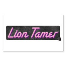 Lion Tamer Rectangle Decal