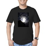 Earth Sky Men's Fitted T-Shirt (dark)