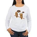 musical owls Women's Long Sleeve T-Shirt