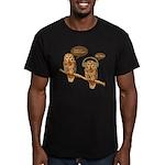 musical owls Men's Fitted T-Shirt (dark)