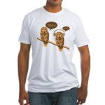 musical owls Fitted T-Shirt
