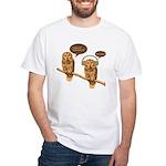 musical owls White T-Shirt