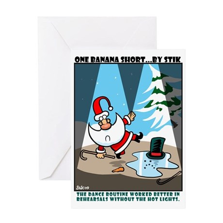 Song and Dance with Snowman Greeting Card