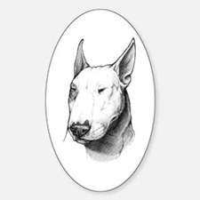 Bull Terrier Oval Bumper Stickers