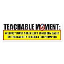 Teachable Moment Bumper Car Sticker