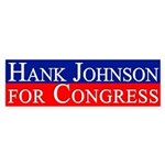 Hank Johnson for Congress bumper sticker