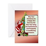 Christmas Be Happy Greeting Card