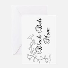 Martial Arts Black Belt Mom Greeting Card